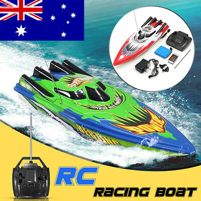 AU Racing Water Remote Control Boat Ship Radio High Speed RC Boat Toy Kids Gift