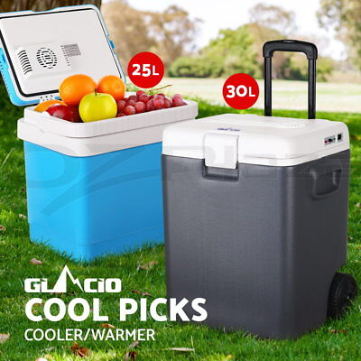Glacio 25L/30L Portable Fridge Cooler Warmer Camping Car Boat Caravan 12V