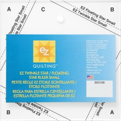 EZ Twinkle Floating Star Acrylic Quilting Template (882166-M)