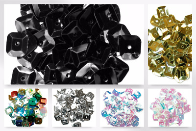 Craft Factory Square Cup Sequins - per pack (CF014070-M)