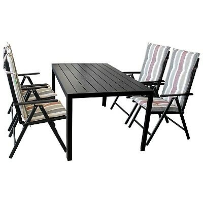 terrassenm bel set gartentisch 150x90cm 6 gartenst hle. Black Bedroom Furniture Sets. Home Design Ideas