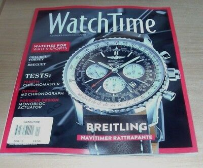 WatchTime magazine FEB 2018 Water Sports, Breitling Navitimer Rattrapante & more