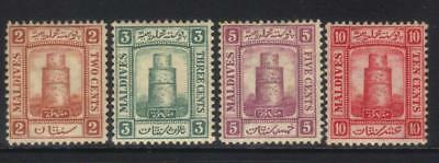 Maldive Islands 1909 Defins Mh Set Of 4 Cat £11+