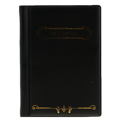 120 Pokets Coin Album 10 Page for Collection Notes Coin Tokens Holder Black