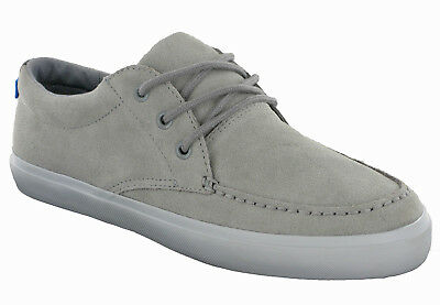 Marks & Spencer Casual Leather Shoes Grey M&S Lace Moccasins Trainers EX STORE