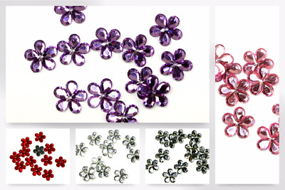 Papercellar Large Flower Shape Gems - per pack (HHC-4-PNK031-M)