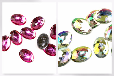 Papercellar Large Oval Gems - per pack (HHC-4-PNK037-M)