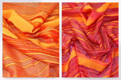 Woven Stripe Polyester Voile Fabric (MF-100694-M)