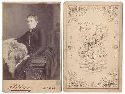CABINET CARD Photograph Victorian Lady by Robson of Alnwick