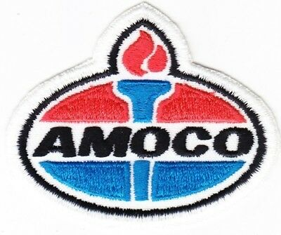Amoco Oil Company on White Twill patch