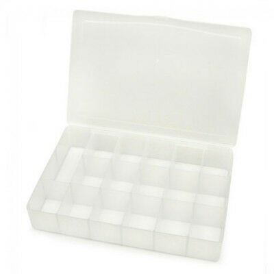 per pack of 6 Darice Stackable Plastic Spinner Craft Storage Box 1096-93