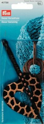 Prym Wooden Decor Fastening Shawl Pin for Knitted Clothing - each (417750)