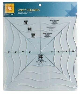 EZ Wavy Squares Acrylic Quilting Template (882109001A)