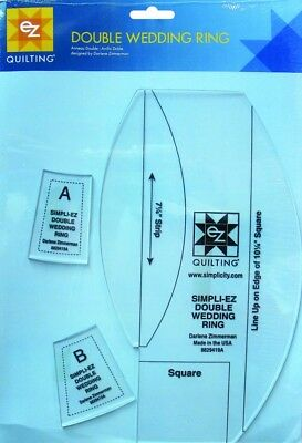 EZ Double Wedding Ring Acrylic Quilting Template (8829419A)