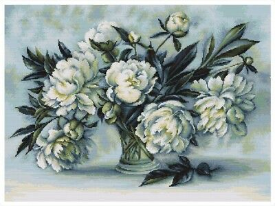 Luca-S Counted Cross Stitch Kit Peonies (B517)