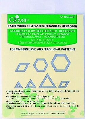 Clover Patchwork & Quilting Templates Triangle & Hexagon - per pack o...