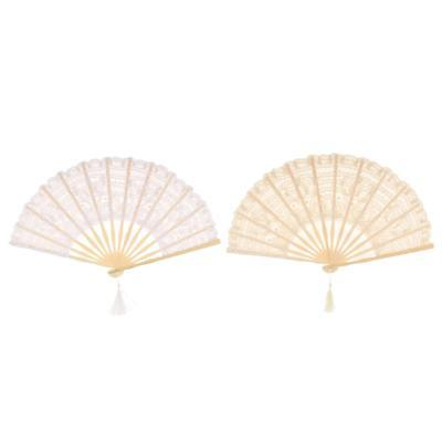 Classic Chinese Lace Folding Fan Girls Lady Wedding Gift Favor Costume Accessory