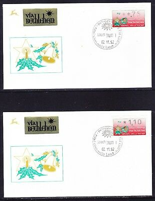 Israel 1992 Christmas set 6 FRAMA Pictorial Covers - Unaddressed