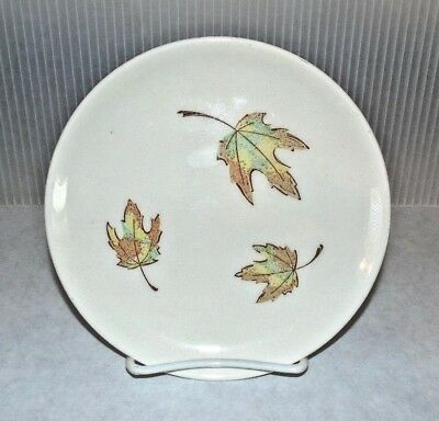 MCM Vintage Taylor Smith Taylor Colorcraft South Wind Bread & Butter Plate Leaf