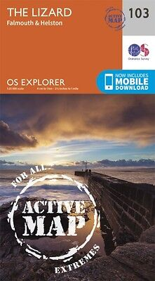 OS Explorer Map Active (103) Lizard, Falmouth and Helston (OS Exp...