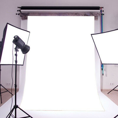5X7FT Vinyl Plain Photography Backdrop Background Studio Photo Props Solid White