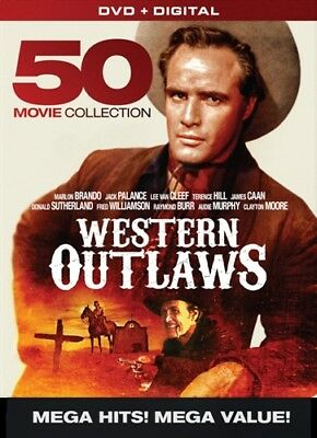 WESTERN OUTLAWS 50 MOVIE COLLECTION New 10 DVD Set Lee Van Cleef Jack Palance