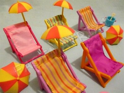Littlest Pet Shop Random Lot 5 Beach Accessories Chairs Umbrella BUY3 GET 1 FREE