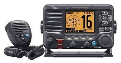 Icom M506 VHF Radio Fixed Mount 25/1 Watts w/ 2-way Foghorn  IC-M506 11