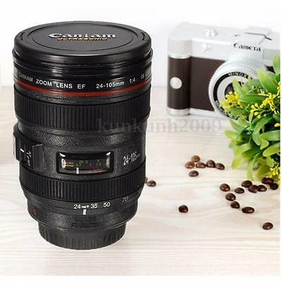 Lens Cup Camera Coffee Mug Thermos Travel Stainless Tea 24 Steel 105mm Canon Lid
