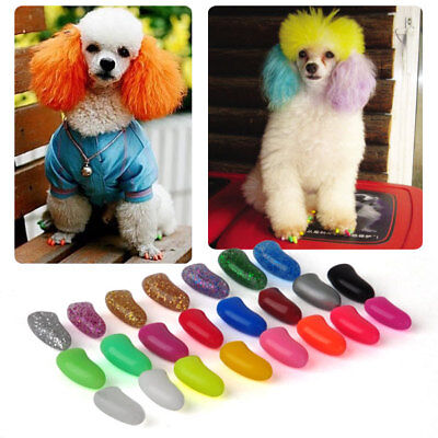 20pcs Pet Grooming Soft Nail Caps Claw+Adhesive Glue f/Dog Paws Multi choose
