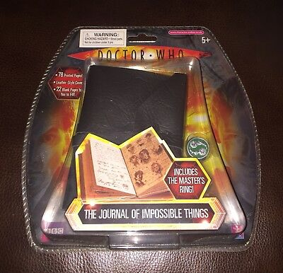 DOCTOR WHO Journal Of Impossible Things Tenth Doctor & MASTER RING 2009 Cosplay