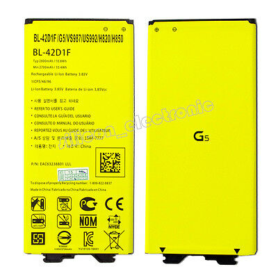 New BL-42D1F Replacement Li-ion Battery For LG G5 H820 H860 H868 H960 2800mAh