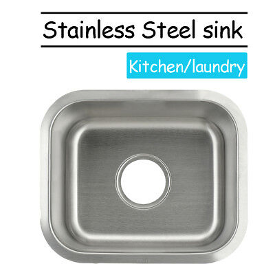 Stainless Steel Kitchen Small Bar Inset Sink Single Bowl Undermount Top Mount