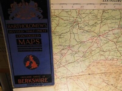 Berkshire 1925:old Map:bartholomew Topographic Colour-Old Railways-Wide Area