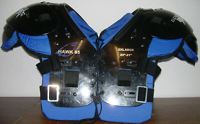 American Football Shoulderpad Hawk 85,  Gr. XXL, OL, DL, LB, Neu