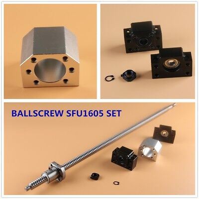 CNC Ball Screw SET SFU1605 with Nut L250-1050MM & BK/BF12 Support & Nut Housing