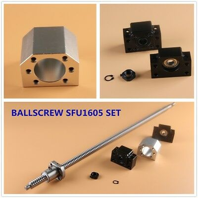 CNC Ball Screw SET SFU1605 with Nut L250-1550MM & BK/BF12 Support & Nut Housing