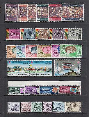 TOGO 6 Complete Sets with AIRMAILS #525//856