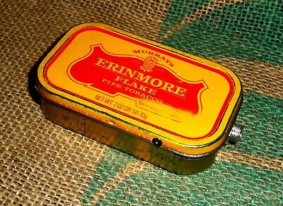 'old Tin Stomp Box'. Hand Made Stomp Box. From Old Erinmore Pipe Tobacco Tin.