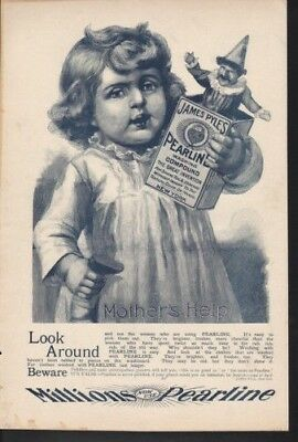 1896 Pearline James Pyle Washing Compound Child Toy  Vintage Ad 9905
