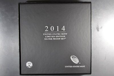 2014 S,W United States Mint Limited Edition 90% Silver Proof Set Coin Collection