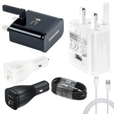 Wall/Car Charger/Type-C Cable For Samsung S8/S8+ S9/S9+ Fast Charging Genuine