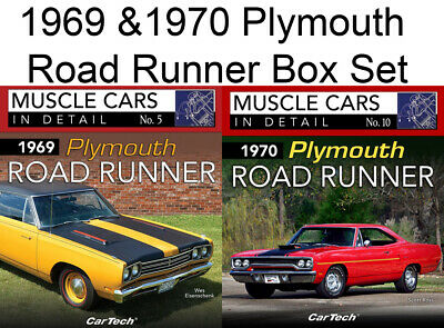 1969 & 1970 Plymouth Road Runner In Detail Book Box Set Vin Build Tag Decoders
