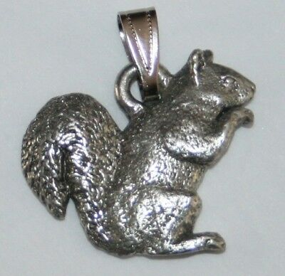 Squirrel Harris Fine Pewter Pendant USA Made