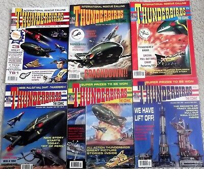 THUNDERBIRDS GERRY ANDERSON COMICS ISSUE No 1 - 6 - WITH FREE GIFTS 1991