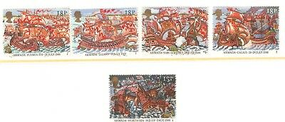 Collectible Great Britain 1988 USED Stamps:Royal Navy Defeat of Spanish Armada