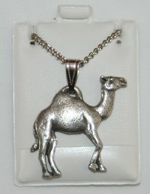 Camel Harris Fine Pewter Pendant w Chain Necklace USA Made