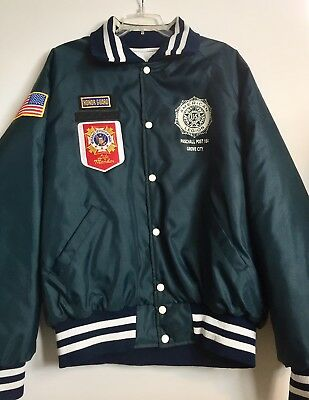 Vintage American Legion XL Veterans of Foreign Wars Heavy Jacket Grove City, Oh
