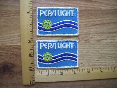 Lot Of 2 Vintage Pepsi Light  Patches