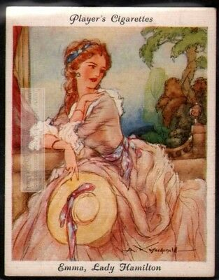 Emma Lady Hamilton Mistress of Lord Nelson  c80 Y/O Ad Trade Card